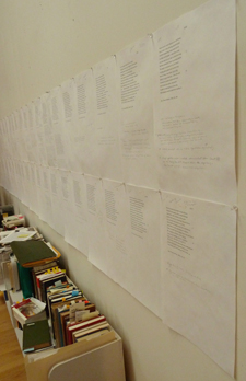 Barbara Neri Wall of Sonnets